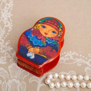 Шкатулка «Матрёшка», 11?8 см, лаковая миниатюра   4091365