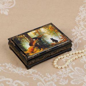 Шкатулка «Мишки в лесу», 10?14 см, лаковая миниатюра 2566806