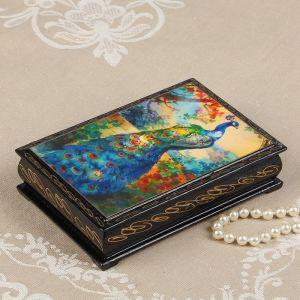 Шкатулка «Павлин», 11?16 см, лаковая миниатюра 2431111
