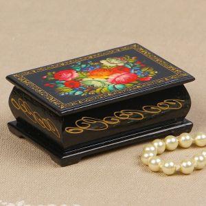 Шкатулка «Пионы с лесными цветами», 6?9 см, лаковая миниатюра 2314234