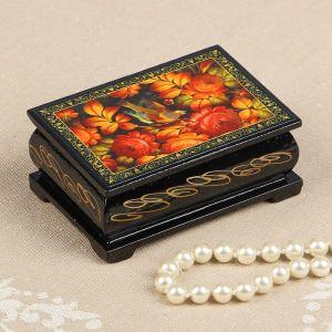 Шкатулка «Птица в пионах», 6?9 см, лаковая миниатюра 2314241