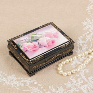 Шкатулка «Розовые розы», 8?10 см, лаковая миниатюра 2566810