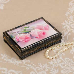 Шкатулка «Розы», 10?14 см, лаковая миниатюра 2407424