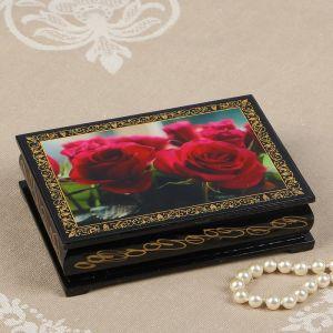 Шкатулка «Розы», 10?14 см, лаковая миниатюра 2449832
