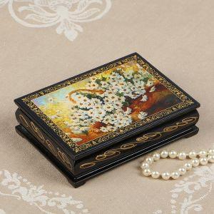 Шкатулка «Ромашки», 10?14 см, лаковая миниатюра 2314256