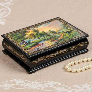 Шкатулка «Ручей», 10?14 см, лаковая миниатюра 2314274
