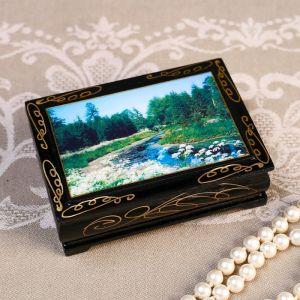 Шкатулка «Ручей», 8?10 см, лаковая миниатюра 4815066