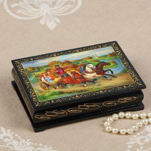 Шкатулка «Тройка в поле», 10?14 см, лаковая миниатюра 2314244