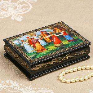 Шкатулка «Хоровод», лаковая миниатюра, 10?14 см 2314242