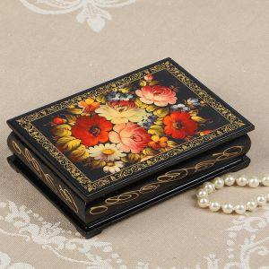 Шкатулка «Цветочная роспись», 10?14 см, лаковая миниатюра 2566831