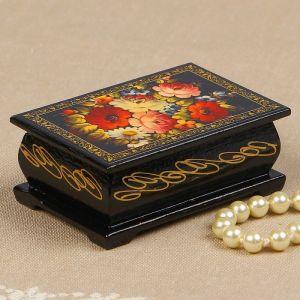 Шкатулка «Цветочная роспись», 6?9 см, лаковая миниатюра 2314237