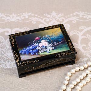 Шкатулка «Цветы», 8?10 см, лаковая миниатюра 4825957