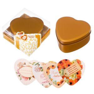 """Шкатулка с наклейками """"Любимой бабушке"""" в подарочной коробке"""