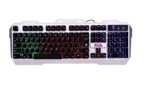 Клавиатура игровая DEFENDER Metal Hunter GK-140L, USB (silver)