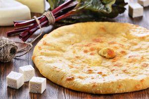 Осетинский пирог с сыром и листьями свеклы