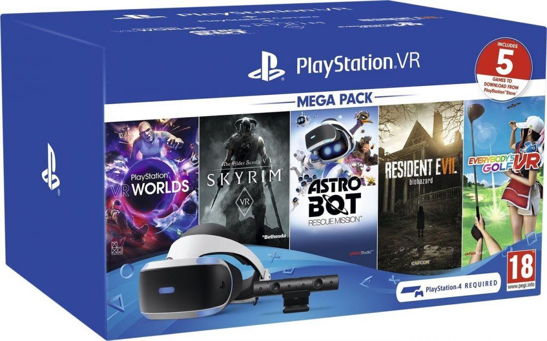 Шлем виртуальной реальности Sony PlayStation VR Mega Pack + Камера + 5 Игр