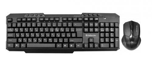 Набор беспроводной (клавиатура+мышь) Defender Jakarta C-805 (black)