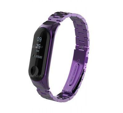 Сменный браслет Xiaomi Mi Band 4 металлический (Фиолетовый)