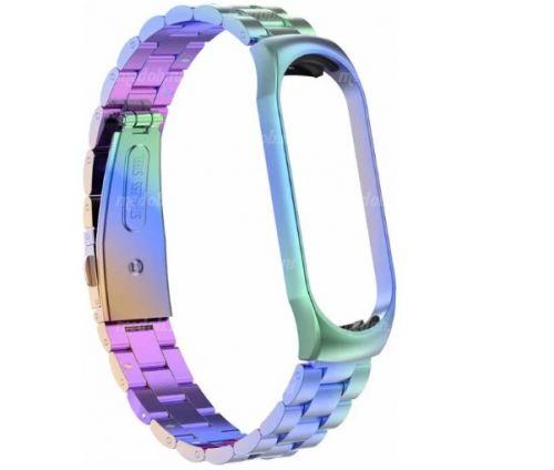 Сменный браслет Xiaomi Mi Band 4 металлический (Цветной)
