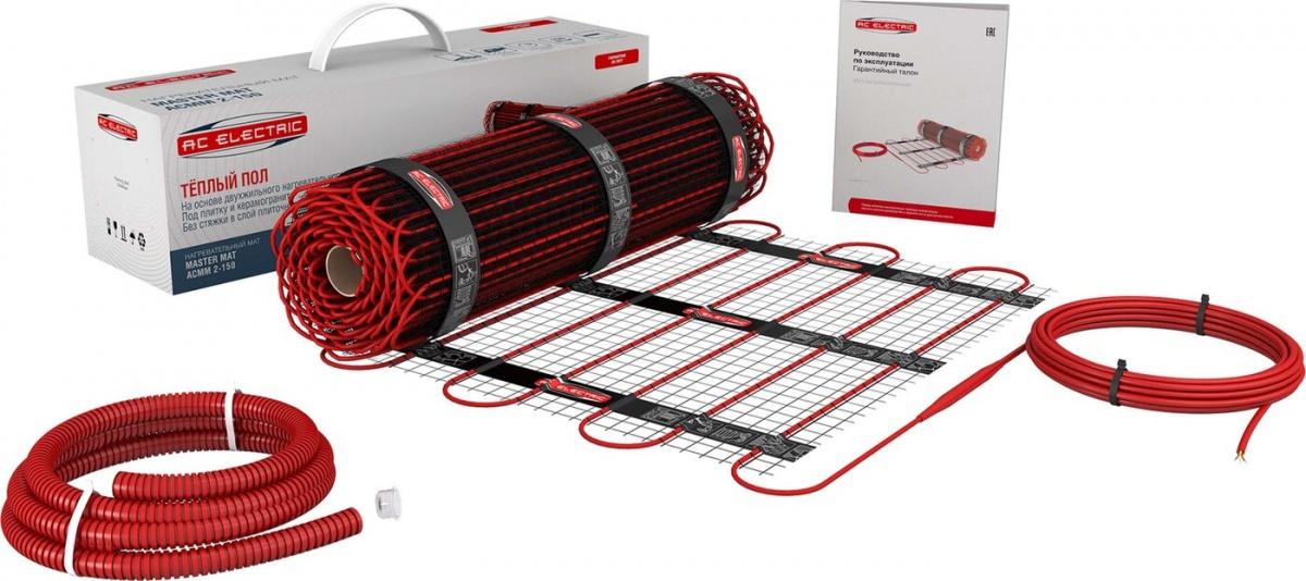 Нагревательный мат AC Electric ACMM 2-150 10м2 1500Вт