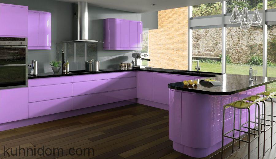 Кухня Система матовая сиреневая № 25