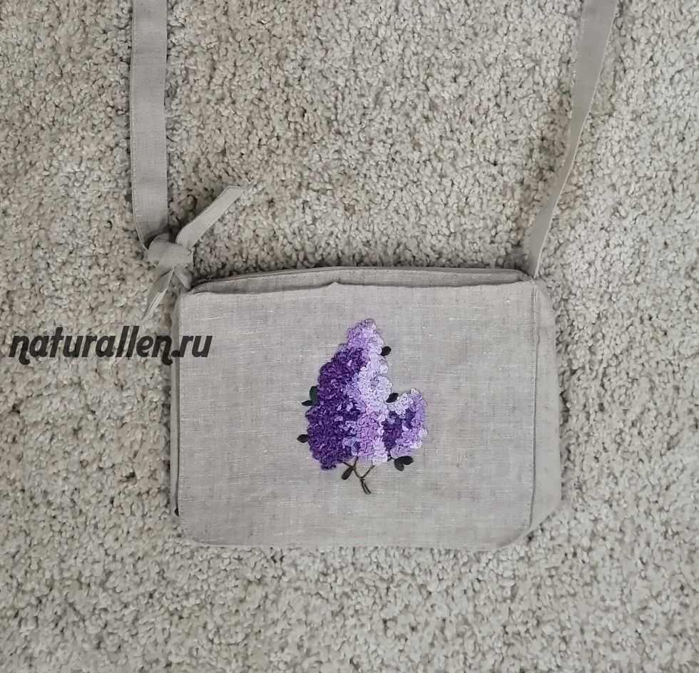 Льняная сумка ручной работы