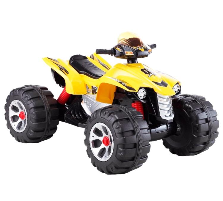 Детский электромобиль (2020) JS318 (12V, колесо пластик) желтый