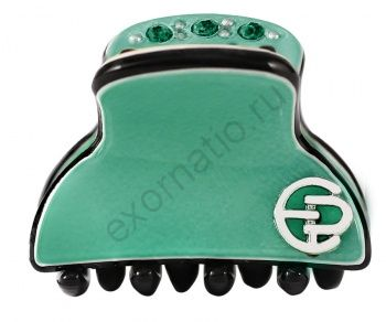 Заколка-краб Evita Peroni 20362-326. Коллекция Mini Basic Green