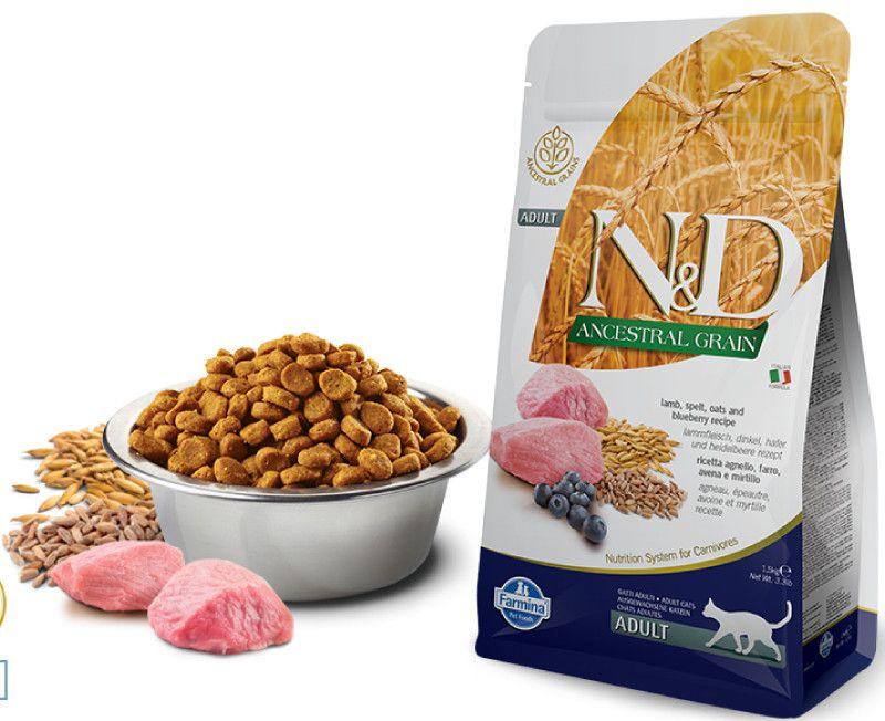 Farmina N&D ANCESTRAL GRAIN  д/к ягненок, спельта, овес, черника