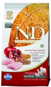 Farmina N&D ANCESTRAL GRAIN д/с MEDIUM/MAXI курица, спельта, овес, гранат