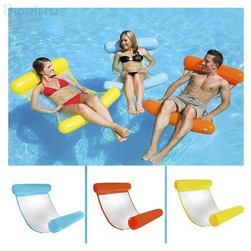 Надувной шезлонг для плавания Floating Bed, 130х73 см