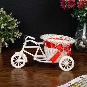 """Корзинка декоративная """"Велосипед с корзинкой-сердечком"""" средняя"""