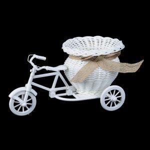 """Корзина декоративная """"Эко-лайф"""" велосипед с вазочкой 12,5х21,5х12 см 2735146"""