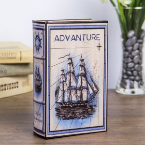 "Сейф-книга дерево ""Морское приключение"" кожзам 17х11х5 см   3622203"