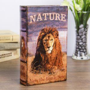"""Сейф-книга дерево """"Природа льва"""" кожзам 21х13х5 см   3622216"""
