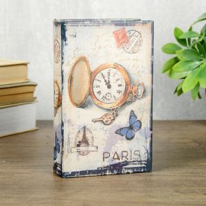 "Сейф-книга дерево кожзам ""Карманные часы. Париж"" 17х11х5 см   4070193"