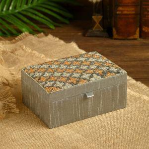 "Шкатулка ""Хришита"" текстиль 18х18х8,5 см   4519525"