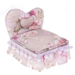 "Шкатулка ткань для украшений ""Кровать с помпонами"" 13,5х15х12 см 2541190"