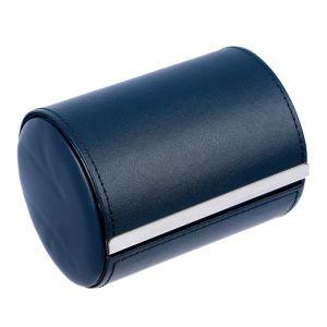 "Шкатулка кожзам под галстук ""Синий тубус"" 10,5х8,5х8,5 см 3094127"