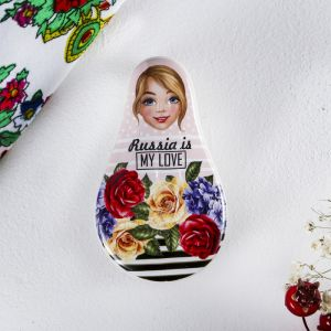 Шкатулка Russia is my love, цветы