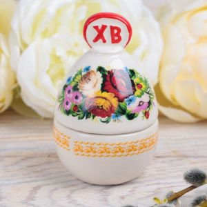 Пасхальная шкатулка-яйцо «Цветы»