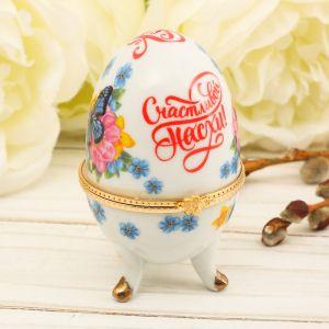Пасхальное яйцо-шкатулка «Бабочки»