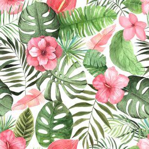 Хлопок Перкаль Тропические цветы 50х37