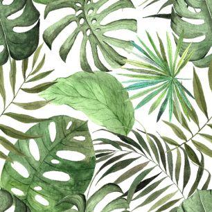 Хлопок Перкаль Тропические листья 50х37
