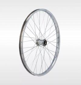 """Колесо 24"""" заднее велосипедное хром"""