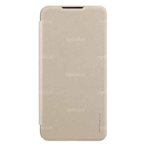 Чехол книжка NILLKIN Sparkle leather case для Xiaomi Mi9 (Gold)
