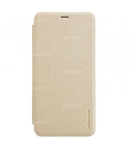 Чехол книжка NILLKIN Sparkle leather case для Xiaomi Redmi 7 (Gold)