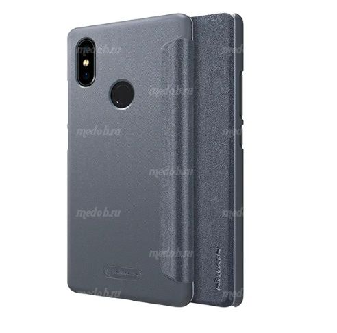 Чехол книжка NILLKIN Sparkle leather case для Xiaomi Mi8 se (Gray)