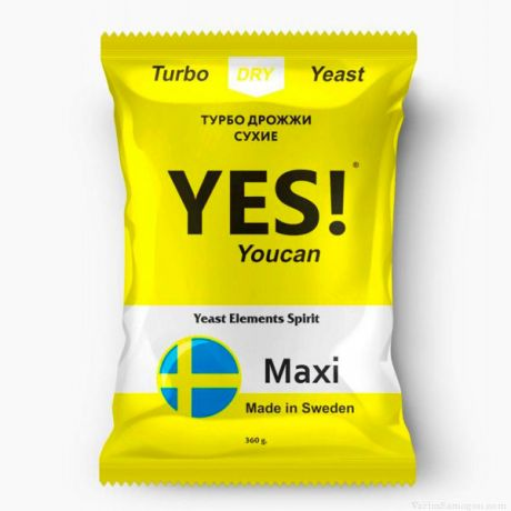 Спиртовые турбо дрожжи YES! YouCan Maxi, 360 г