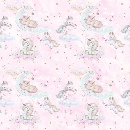 Хлопок Перкаль Розовые сны 50х40
